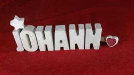 Beton, Steinguss Buchstaben 3D Deko Namen JOHANN als Geschenk verpackt!