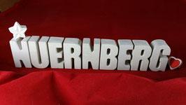 Beton, Steinguss Buchstaben 3D Deko Stern Namen NUERNBERG als Geschenk verpackt!