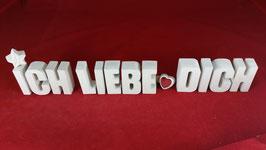 Beton, Steinguss Buchstaben 3D Deko Stern Namen ICH LIEBE DICH als Geschenk verpackt!