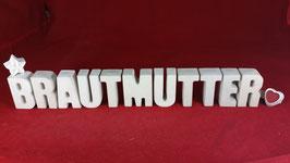 Beton, Steinguss Buchstaben 3D Deko Stern Namen BRAUTMUTTER als Geschenk verpackt!