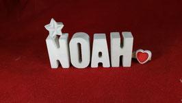 Beton, Steinguss Buchstaben 3D Deko Namen NOAH als Geschenk verpackt!