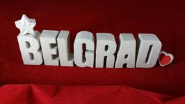 Beton, Steinguss Buchstaben 3D Deko Stern Namen BELGRAD als Geschenk verpackt!
