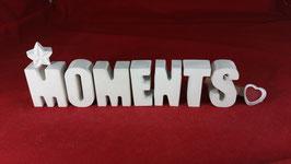 Beton, Steinguss Buchstaben 3D Deko Stern Namen MOMENTS als Geschenk verpackt!