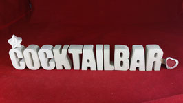 Beton, Steinguss Buchstaben 3D Deko Stern Namen COCKTAILBAR als Geschenk verpackt!