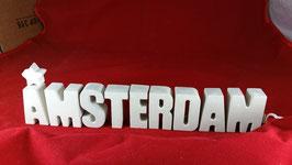 Beton, Steinguss Buchstaben 3D Deko Stern Namen AMSTERDAM als Geschenk verpackt!