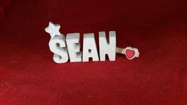 Beton, Steinguss Buchstaben 3D Deko Namen SEAN als Geschenk verpackt!
