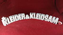Beton, Steinguss Buchstaben 3D Deko Stern Schriftzug KLEIDER & KLEIDSAM als Geschenk verpackt!