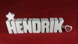 Beton, Steinguss Buchstaben 3D Deko Namen HENDRIK als Geschenk verpackt!