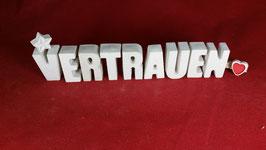 Beton, Steinguss Buchstaben 3D Deko Stern Namen VERTRAUEN als Geschenk verpackt!