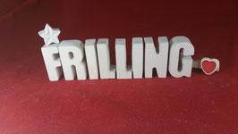Beton, Steinguss Buchstaben 3D Deko Stern Schriftzug FRILLING als Geschenk verpackt!