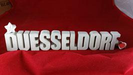 Beton, Steinguss Buchstaben 3D Deko Stern Namen DUESSELDORF als Geschenk verpackt!