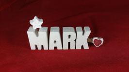 Beton, Steinguss Buchstaben 3D Deko Namen MARK als Geschenk verpackt!