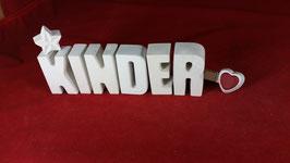 Beton, Steinguss Buchstaben 3D Deko Stern Namen KINDER als Geschenk verpackt!