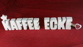 Beton, Steinguss Buchstaben 3D Deko Stern Namen KAFFEE ECKE als Geschenk verpackt!
