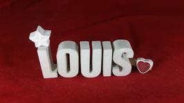 Beton, Steinguss Buchstaben 3D Deko Namen LOUIS als Geschenk verpackt!