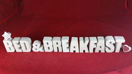 Beton, Steinguss Buchstaben 3D Deko Stern Namen BED & BREAKFAST als Geschenk verpackt!