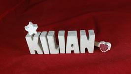 Beton, Steinguss Buchstaben 3D Deko Namen KILIAN als Geschenk verpackt!