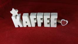 Beton, Steinguss Buchstaben 3D Deko Stern Namen KAFFEE als Geschenk verpackt!