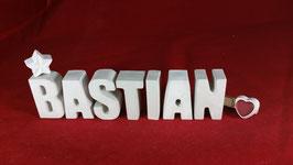 Beton, Steinguss Buchstaben 3D Deko Namen BASTIAN als Geschenk verpackt!