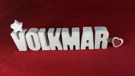 Beton, Steinguss Buchstaben 3D Deko Namen VOLKMAR als Geschenk verpackt!