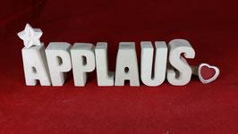 Beton, Steinguss Buchstaben 3D Deko Stern Namen APPLAUS als Geschenk verpackt!