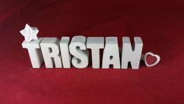 Beton, Steinguss Buchstaben 3D Deko Namen TRISTAN als Geschenk verpackt!