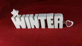 Beton, Steinguss Buchstaben 3D Deko Stern Namen WINTER als Geschenk verpackt!