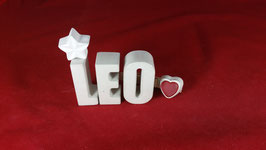 Beton, Steinguss Buchstaben 3D Deko Namen LEO als Geschenk verpackt!