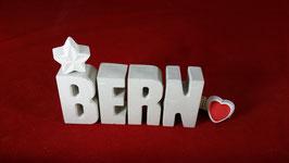 Beton, Steinguss Buchstaben 3D Deko Stern Namen BERN als Geschenk verpackt!