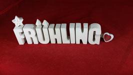 Beton, Steinguss Buchstaben 3D Deko Stern Namen FRÜHLING als Geschenk verpackt!