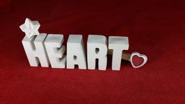 Beton, Steinguss Buchstaben 3D Deko Stern Namen HEART als Geschenk verpackt!