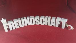 Beton, Steinguss Buchstaben 3D Deko Stern Namen FREUNDSCHAFT als Geschenk verpackt!