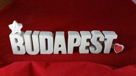 Beton, Steinguss Buchstaben 3D Deko Stern Namen BUDAPEST als Geschenk verpackt!