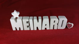 Beton, Steinguss Buchstaben 3D Deko Namen MEINHARD als Geschenk verpackt!