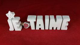 Beton, Steinguss Buchstaben 3D Deko Stern Namen JE TAIME als Geschenk verpackt!