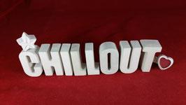 Beton, Steinguss Buchstaben 3D Deko Stern Namen CHILLOUT als Geschenk verpackt!