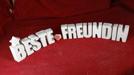 Beton, Steinguss Buchstaben 3D Deko Stern Namen BESTE FREUNDIN als Geschenk verpackt!
