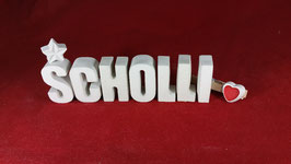 Beton, Steinguss Buchstaben 3D Deko Stern Schriftzug SCHOLLI als Geschenk verpackt!