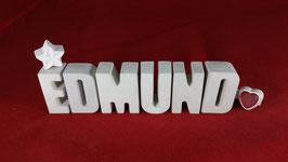 Beton, Steinguss Buchstaben 3D Deko Namen EDMUND als Geschenk verpackt!
