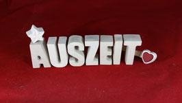 Beton, Steinguss Buchstaben 3D Deko Stern Namen AUSZEIT als Geschenk verpackt!