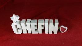 Beton, Steinguss Buchstaben 3D Deko Stern Namen CHEFIN als Geschenk verpackt!