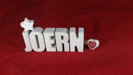 Beton, Steinguss Buchstaben 3D Deko Namen JOERN als Geschenk verpackt!