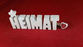 Beton, Steinguss Buchstaben 3D Deko Stern Namen HEIMAT als Geschenk verpackt!