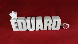 Beton, Steinguss Buchstaben 3D Deko Namen EDUARD als Geschenk verpackt!