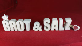 Beton, Steinguss Buchstaben 3D Deko Stern Namen BROT & SALZ als Geschenk verpackt!