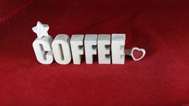 Beton, Steinguss Buchstaben 3D Deko Stern Namen COFFEE als Geschenk verpackt!