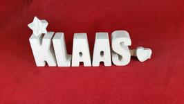 Beton, Steinguss Buchstaben 3D Deko Namen KLAAS als Geschenk verpackt!
