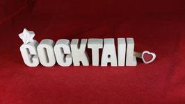 Beton, Steinguss Buchstaben 3D Deko Stern Namen COCKTAIL als Geschenk verpackt!