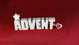 Beton, Steinguss Buchstaben 3D Deko Stern Namen ADVENT als Geschenk verpackt!