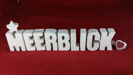 Beton, Steinguss Buchstaben 3D Deko Stern Namen MEERBLICK als Geschenk verpackt!